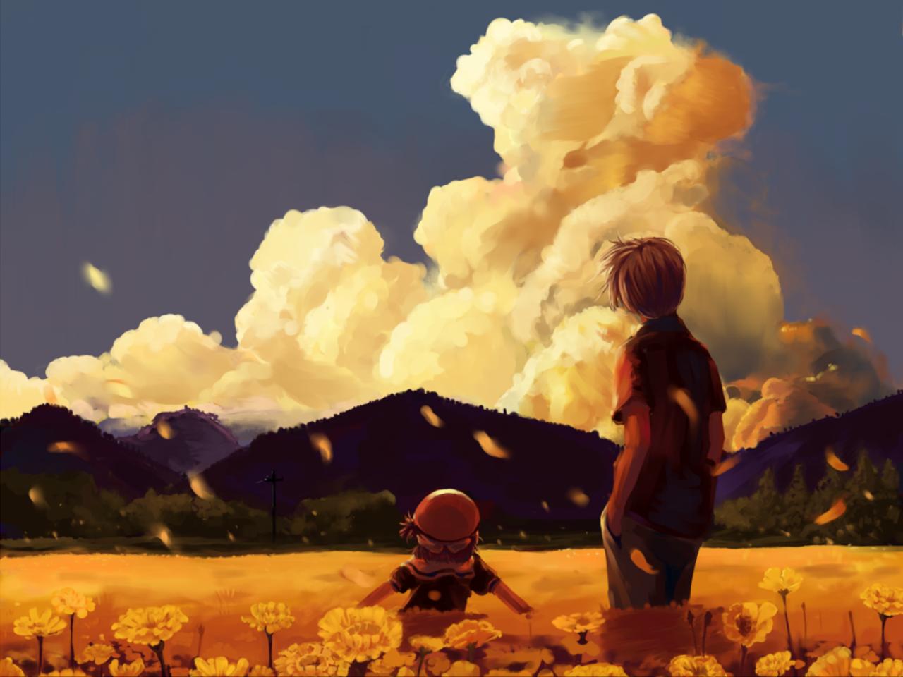 Anime Clannad Tomoya Okazaki Ushio Okazaki Wallpaper クラナド