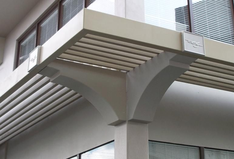 Corbels Trellis And Medallions Fit Over Existing Concrete Outriggers