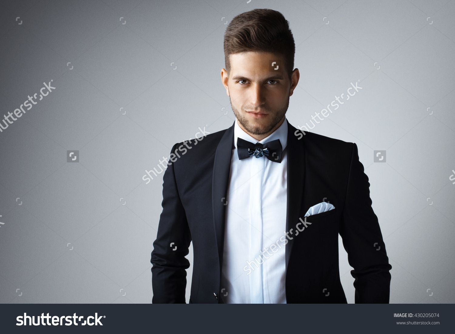 Stylish Young Man In Suit And Tie. Business Style. Fashionable ...