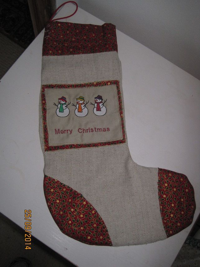 Beautiful Christmas stocking, with embroidery detail £1500 Stuff