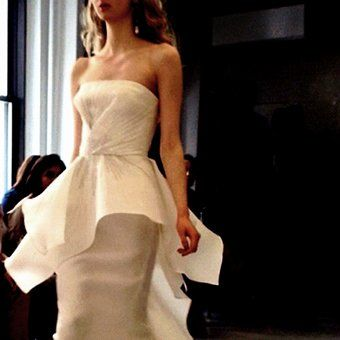 16 #Peplum Wedding Dresses from Spring #2013