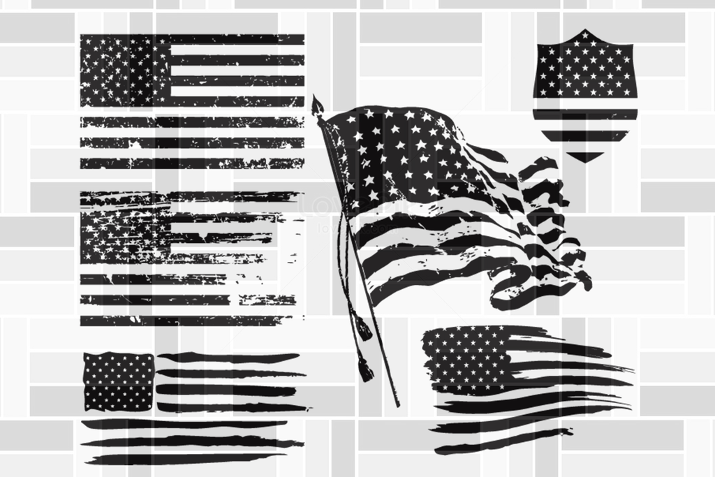 American Flag Stars And Stripes In Black White Drink Coaster Independence Day Svg Happy 4 White American Flag Shirt American Flag Stars American Flag Shirt