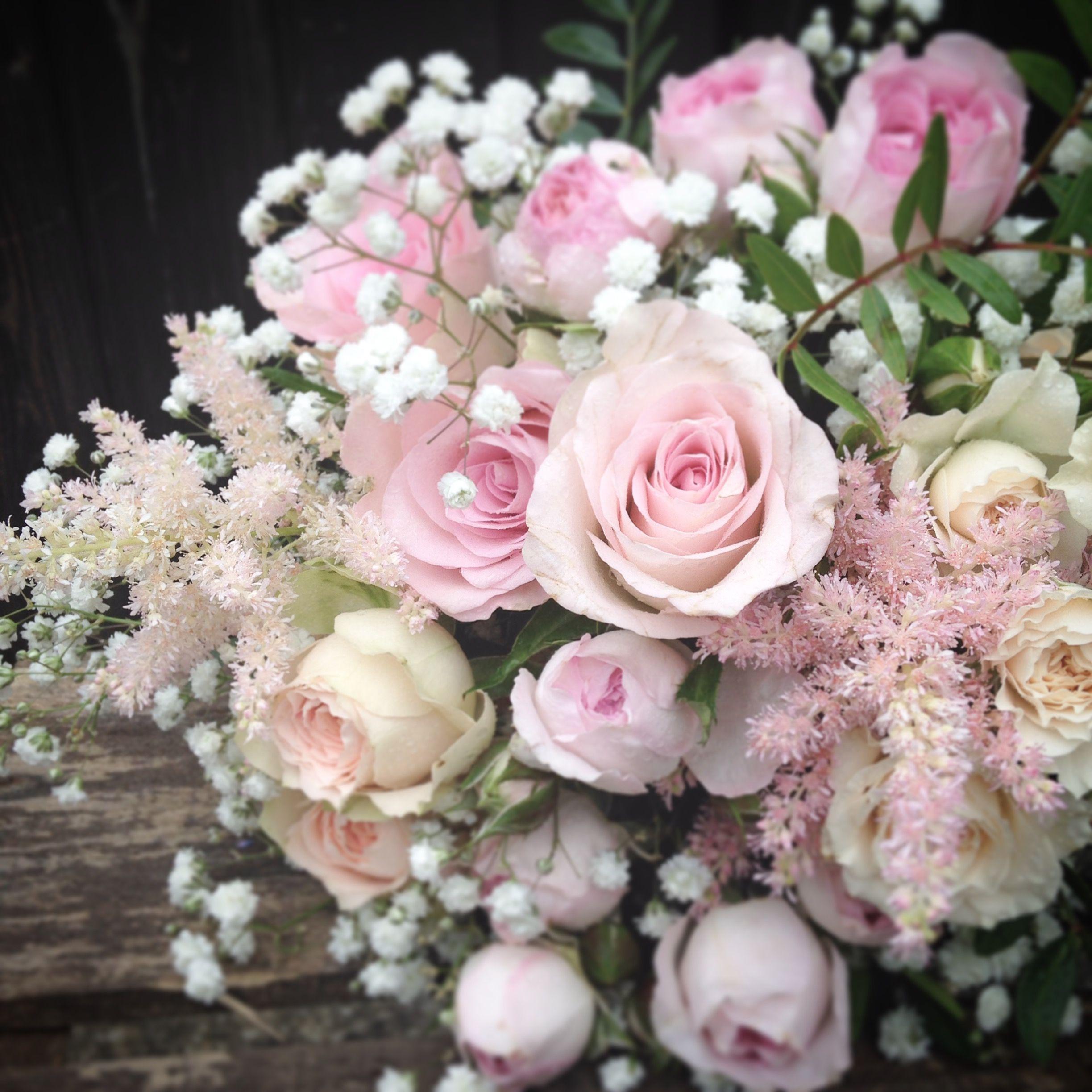 roses flowers gypsophila flower - photo #37