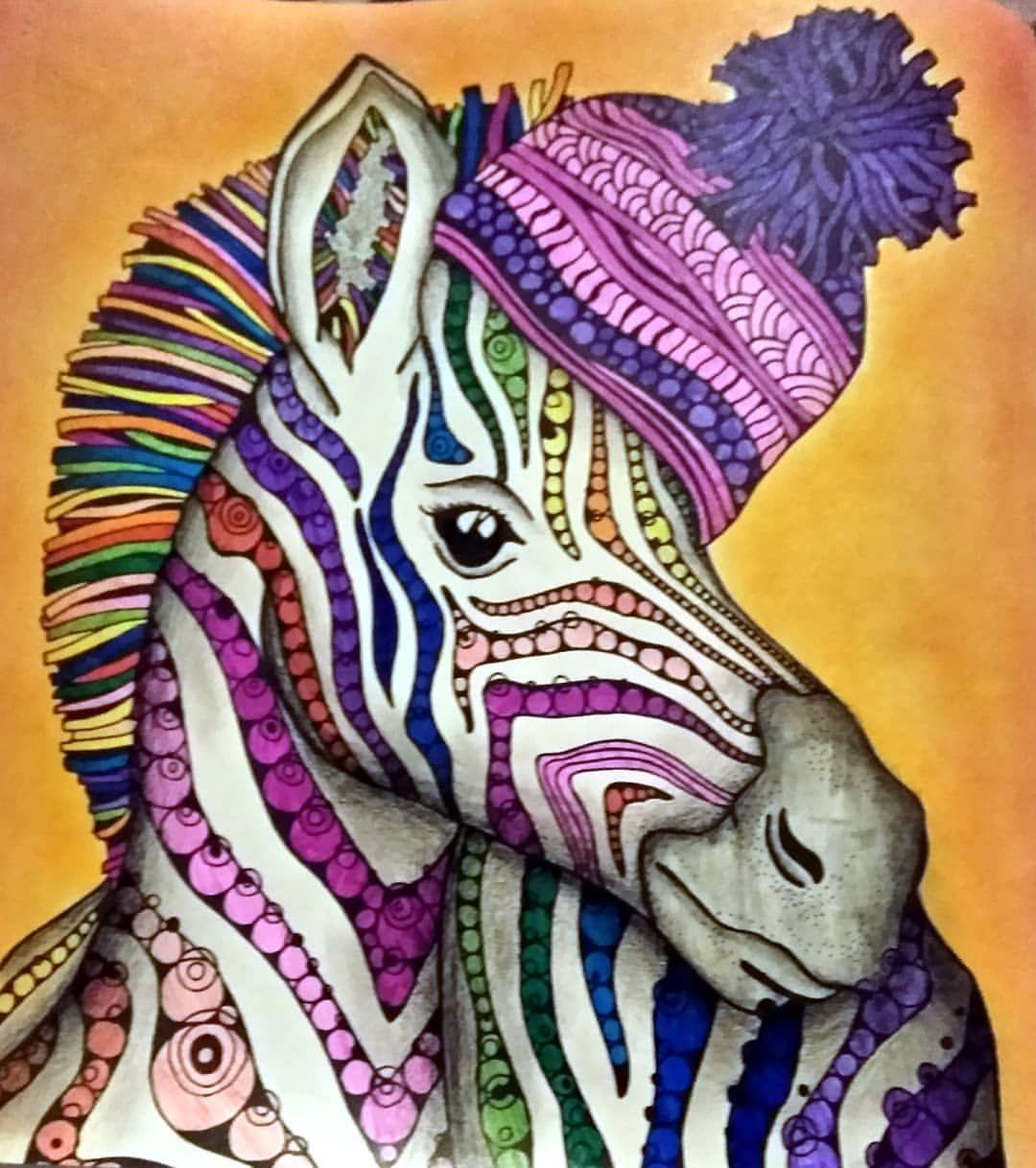 Wakai Aki Raskraskaantistress Samayauyutnayaraskraska Hyugge Zebra Poloski Shapka Udivitelnye Risunki Risunok Zhirafa Hudozhestvennye Idei