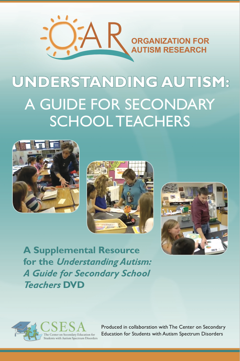 Ideas for strategies for teaching high school students with ASD.  A good resource.
