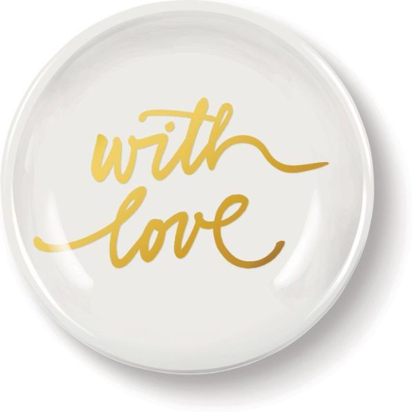 With Love Petite Porcelain Tray (2.6'' Diameter)