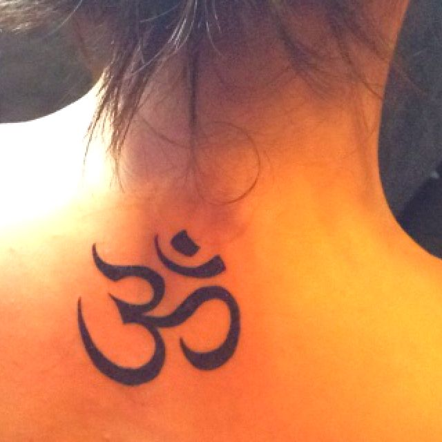 Namaste tattoo! I want this, but I want it on my foot. Or ...