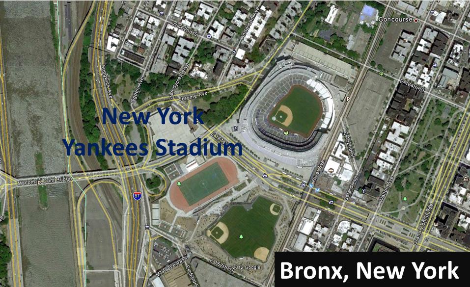 The World Famous New York Yankees Stadium.