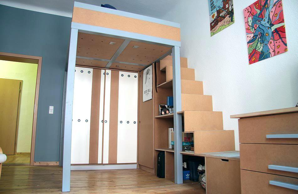 Etagenbett Mit Treppe Selber Bauen : Holztreppe hochbett selber bauen u2013 wohn design
