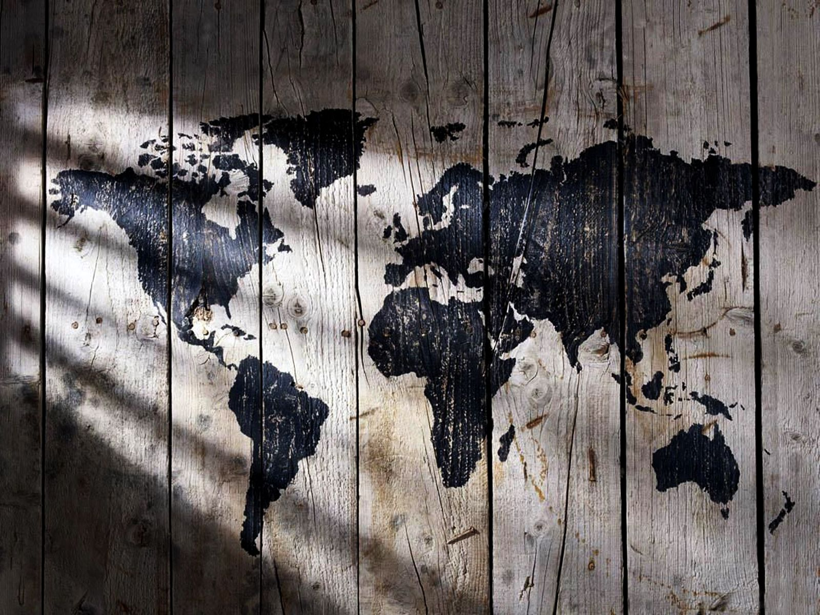 Creative world map wallpaper drm land world map on your walls world map painted on wood texture lights and shadows hd wallpaper gumiabroncs Image collections