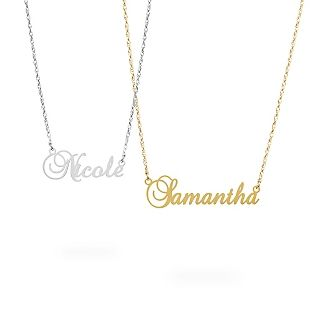 d2e2ff21a7ceb Sterling Silver Script Name Necklaces - Reminds me of Carrie ...