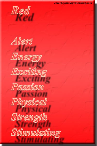 Color Red Psychology Meaning Misc Pinterest Color Color