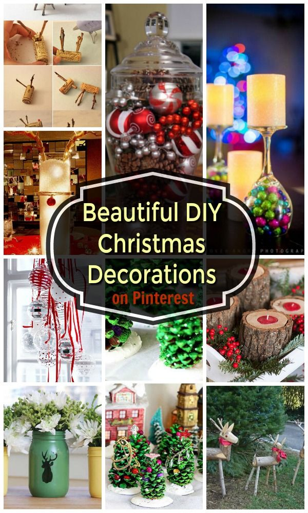 22 Beautiful Diy Christmas Decorations On Pinterest Christmas Celebration All About Christmas Christmas Decor Diy Christmas Decorations Diy Christmas Door Decorations