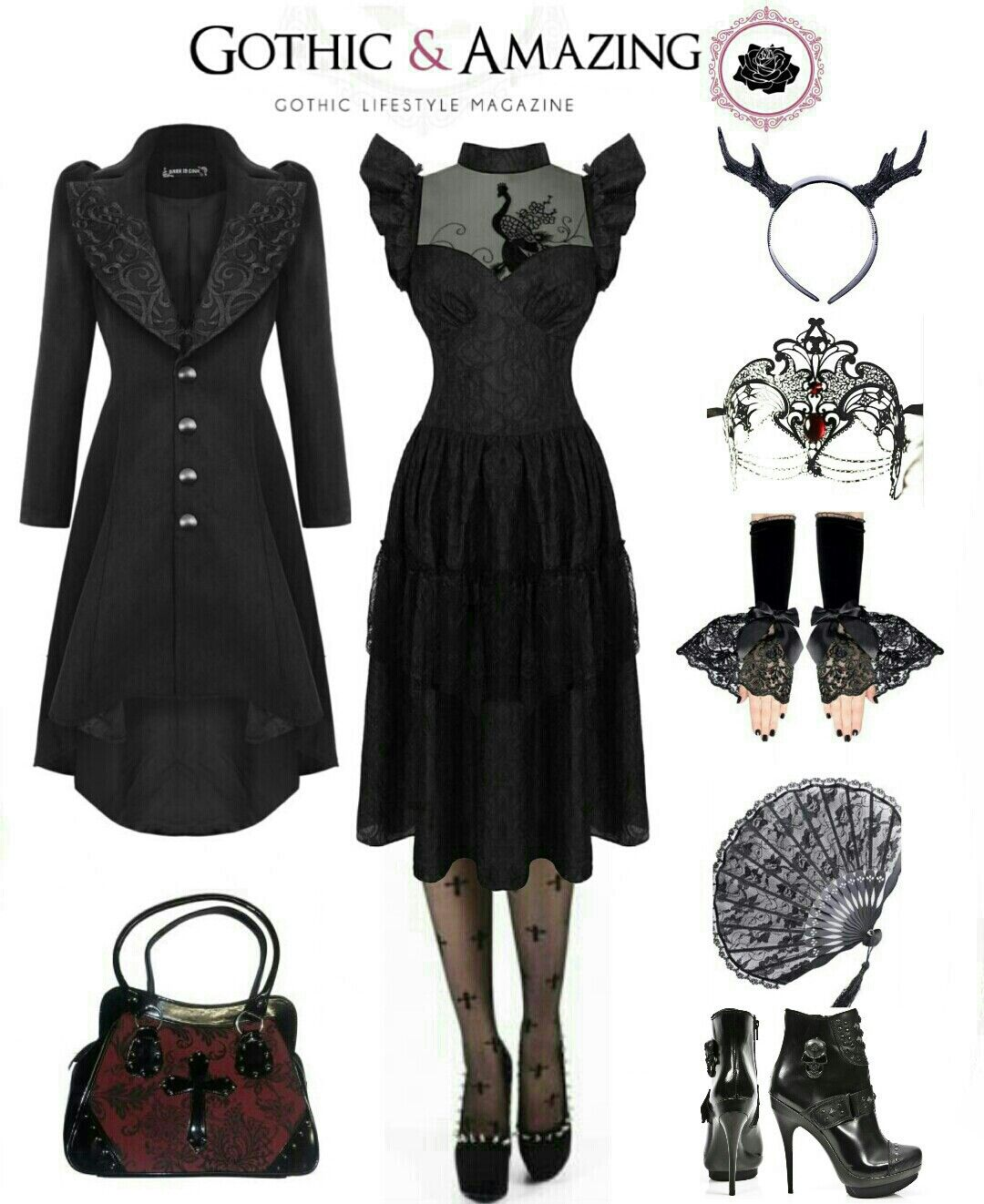 Shop Gothic Clothing on www.blue,raven.com ! Outfit Goth Gothique