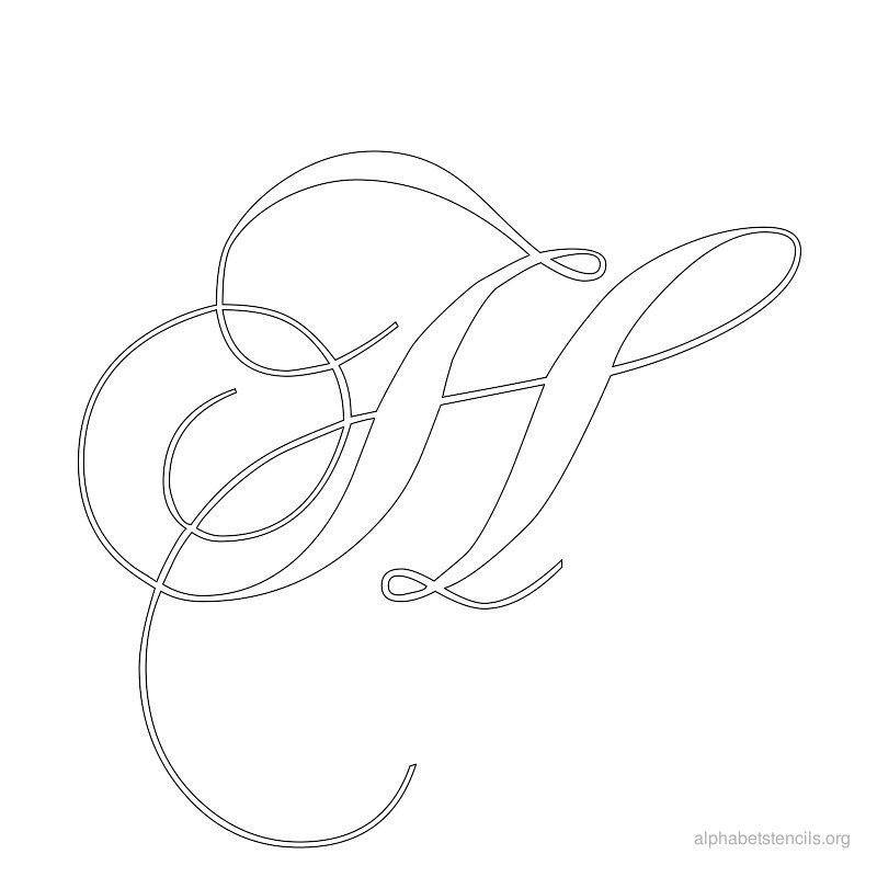 Alphabet Stencils Calligraphy H Monograms Pinterest