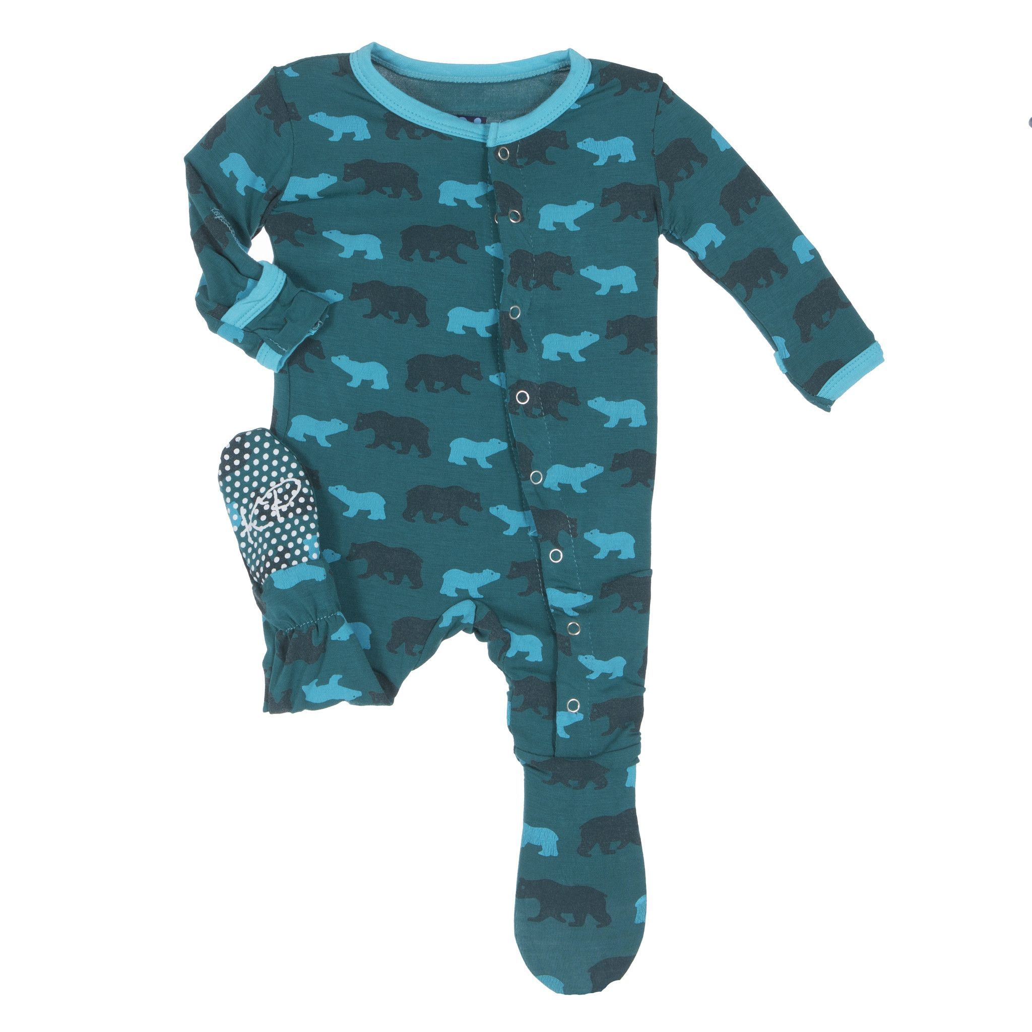1a1a695d4 Kickee Pants Tropical Life Print Footie Pajamas | Kickee Pants ...