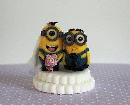wedding cake topper minions - Google Search   Wedding Ideas ...