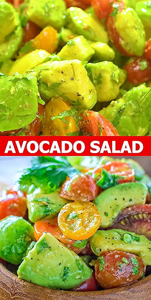 Healthy and so flavorful, this Avocado Tomato Salad makes a great addition to your dinner or lunch. This is one of the most loved recipes in my family! FOLLOW Cooktoria for more deliciousness! #avocado #tomato #salad #lunch #easyrecipe #keto #vegan #plantbased #vegetarian #lowcarb
