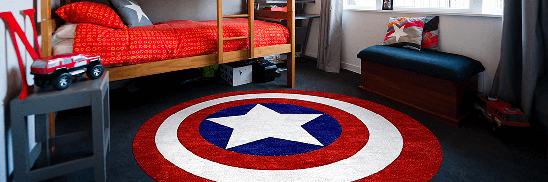 Rugs For Marvel Justice League Decor