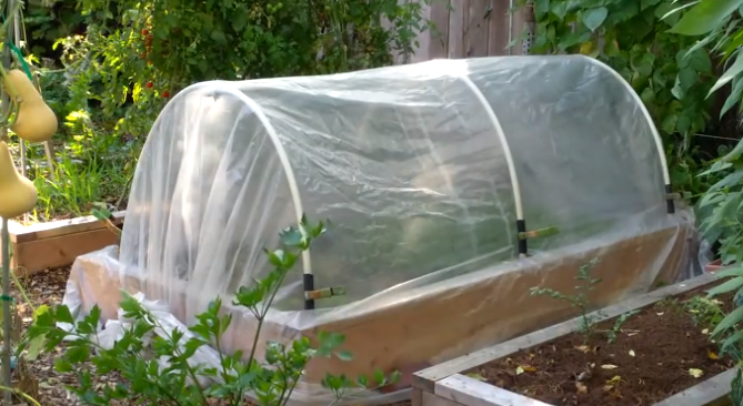 How to Make a Hoop House for a Raised Bed Garden