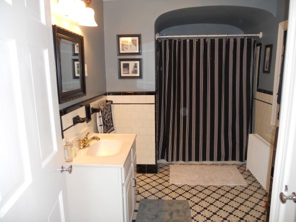 1940 Bathroom, Combining The Old With The New, This Bathroom Floor Was  Restored To Its Original Beauty Of The Bathrooms Design