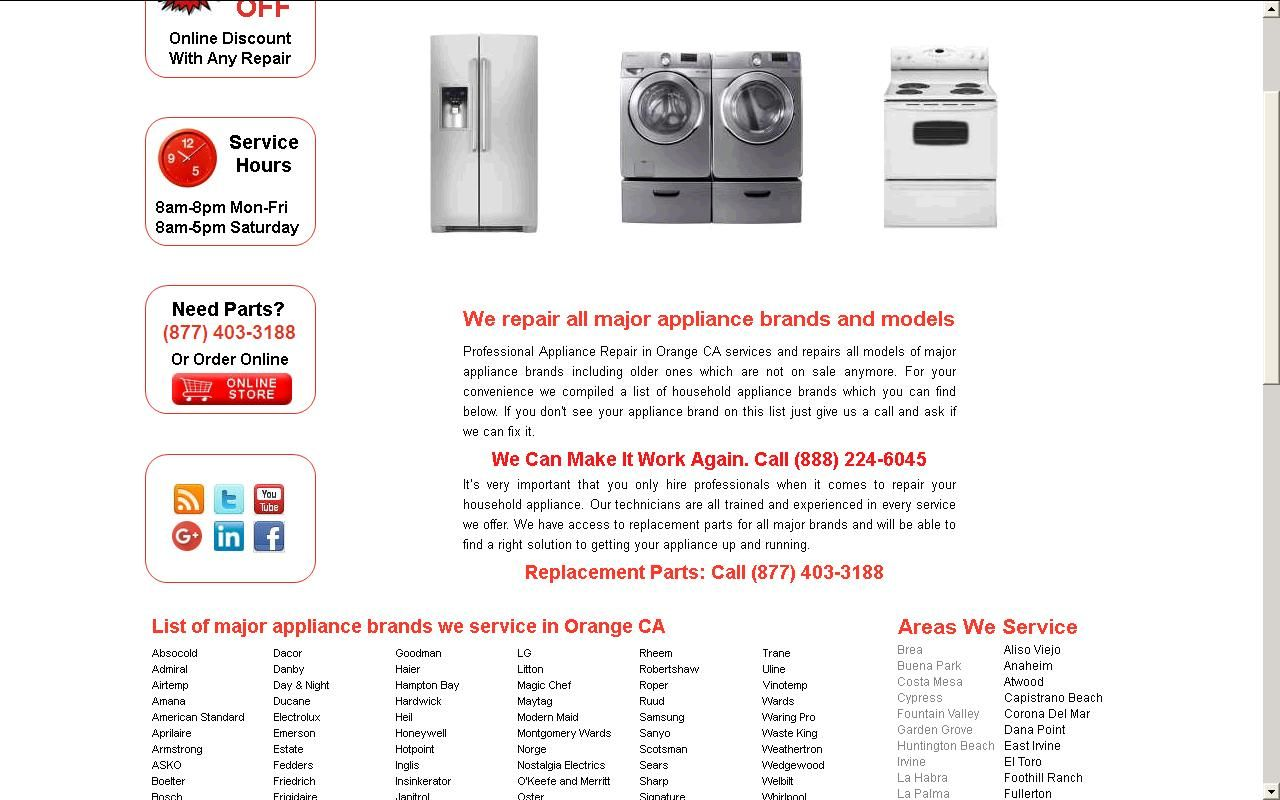 Appliance repair in orange county appliancere on pinterest