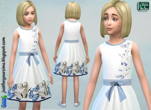 Just for your sims: Butterfly Dress • Sims 4 Downloads