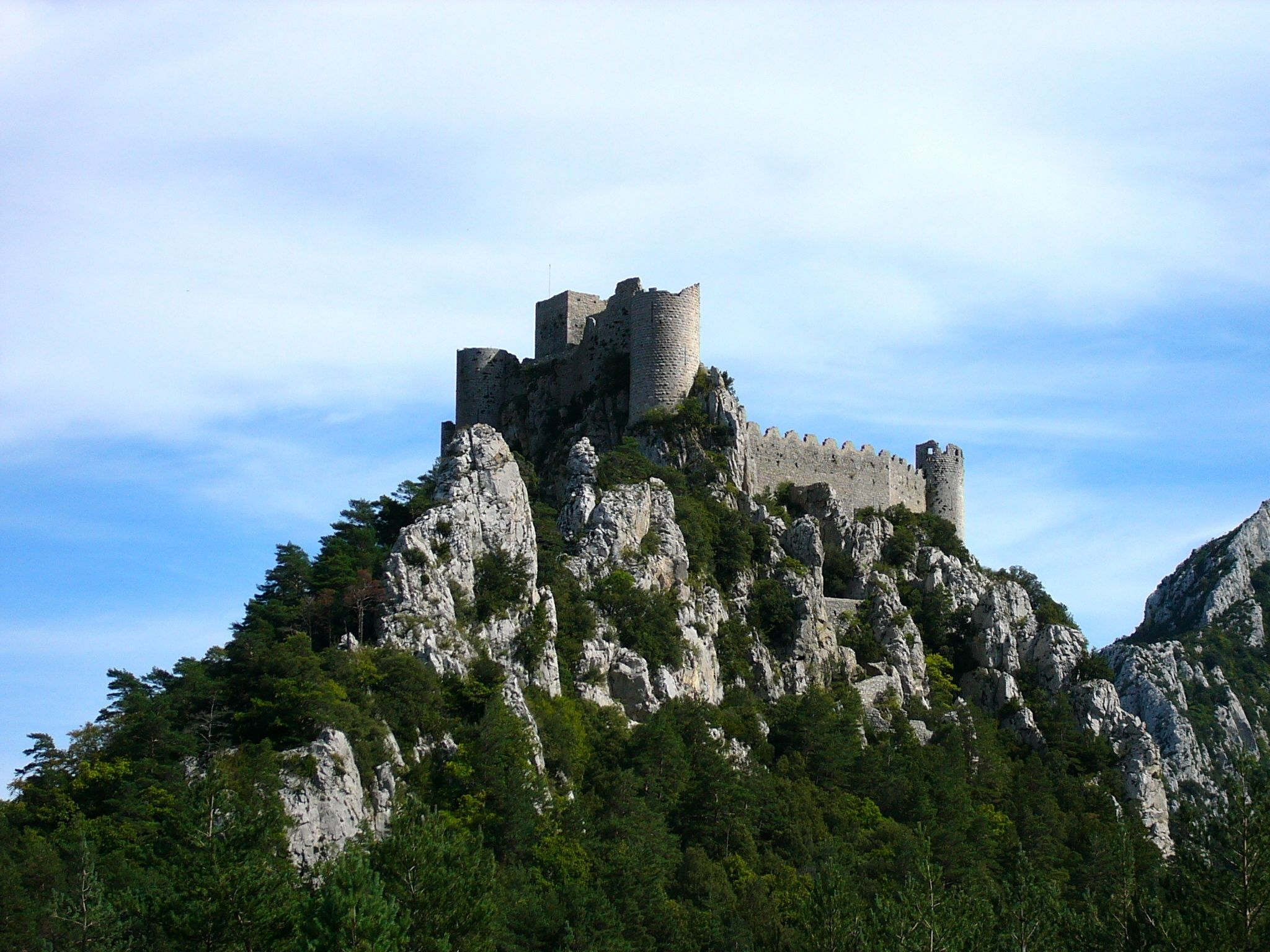 Montsegur, last stronghold of the Cathars.   French castles ...
