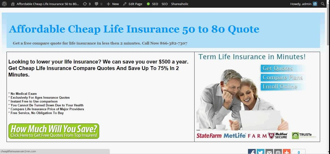 No Exam Life Insurance Quotes Whole Life Insurance For Seniors  Whole Life Insurance
