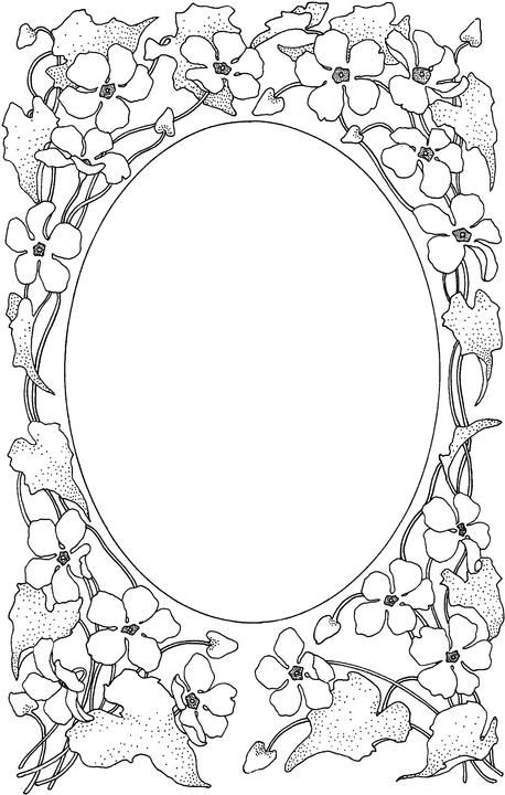 Picture Frame | ornament | Pinterest | Coloring pages, Color y Frame