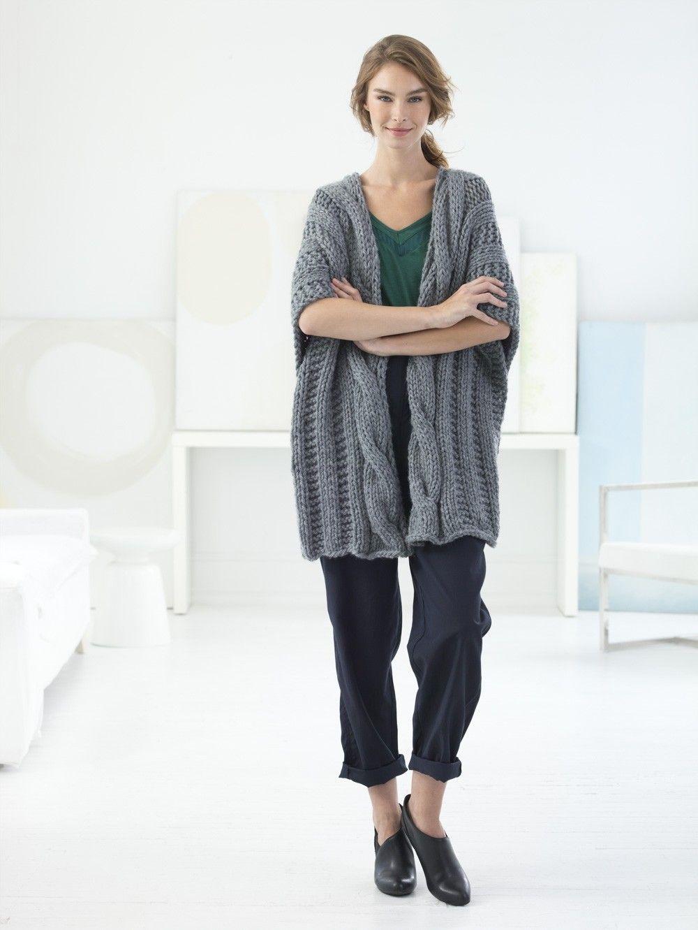 Ridgefield Ruana (Knit) | Knit and Crochet | Pinterest | Ganchillo y ...