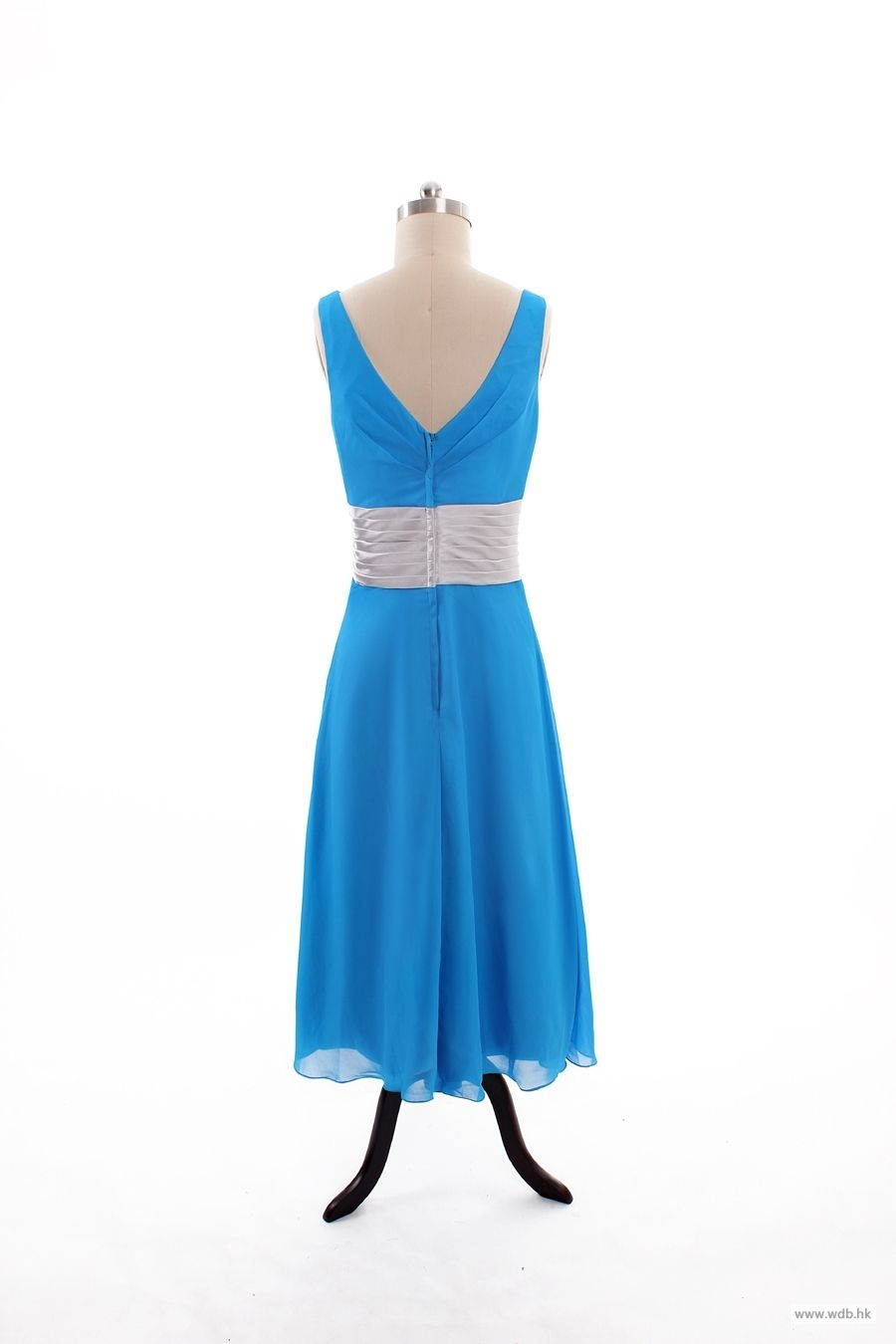 barn wedding V-neck A-line floor-length chiffon bridesmaid dress $127.8