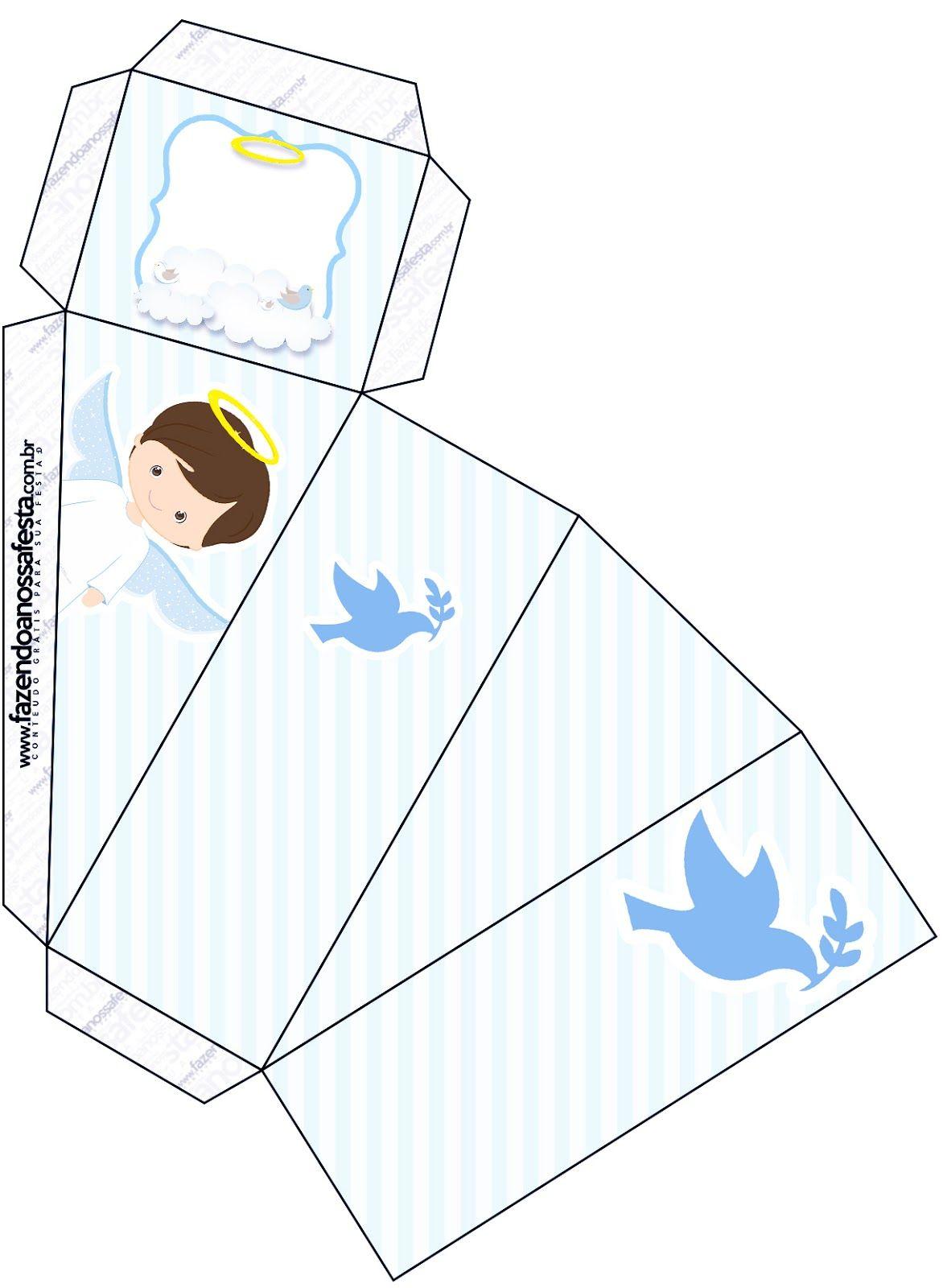 Cajas Bautizo.Bello Bautismo De Nino Moreno Cajas Para Imprimir Gratis