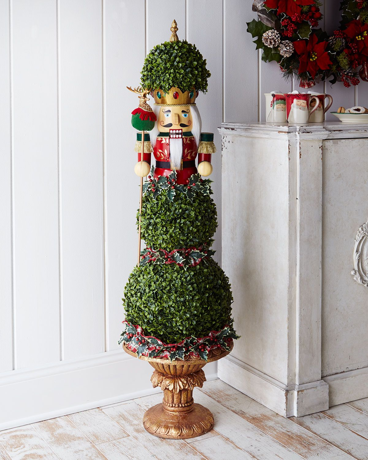 How to make a nutcracker christmas decoration - Nutcracker Christmas Topiary At Horchow Wow Very Pricey Wonder If I Could Make This Noticed Marshall S Tj And Home Goods All Had A Few Giant