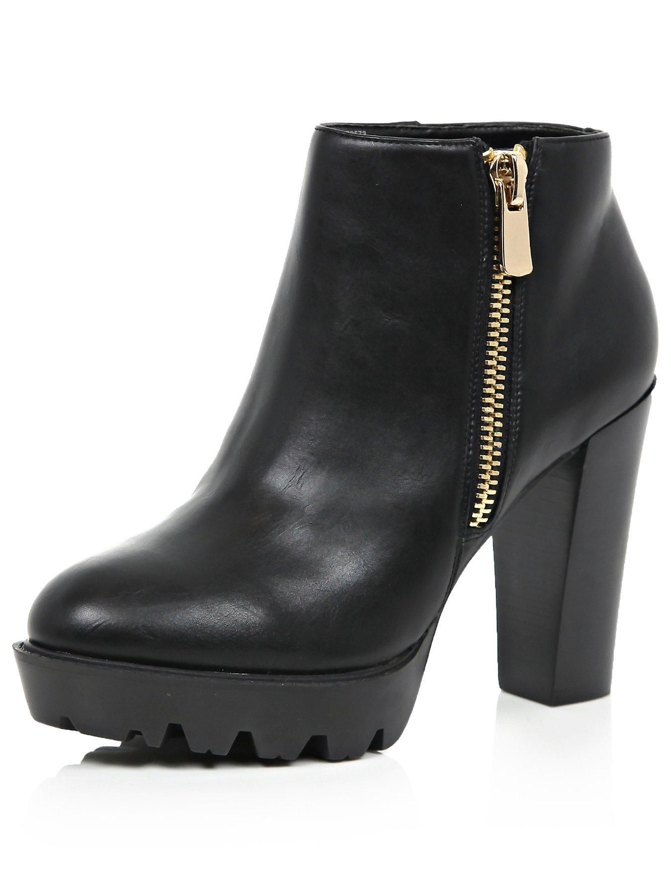 e8f7e6c82f5ed River Island Heeled Cleated Sole Ankle Boots The classic Chelsea boot gets  a luxe refresh this season