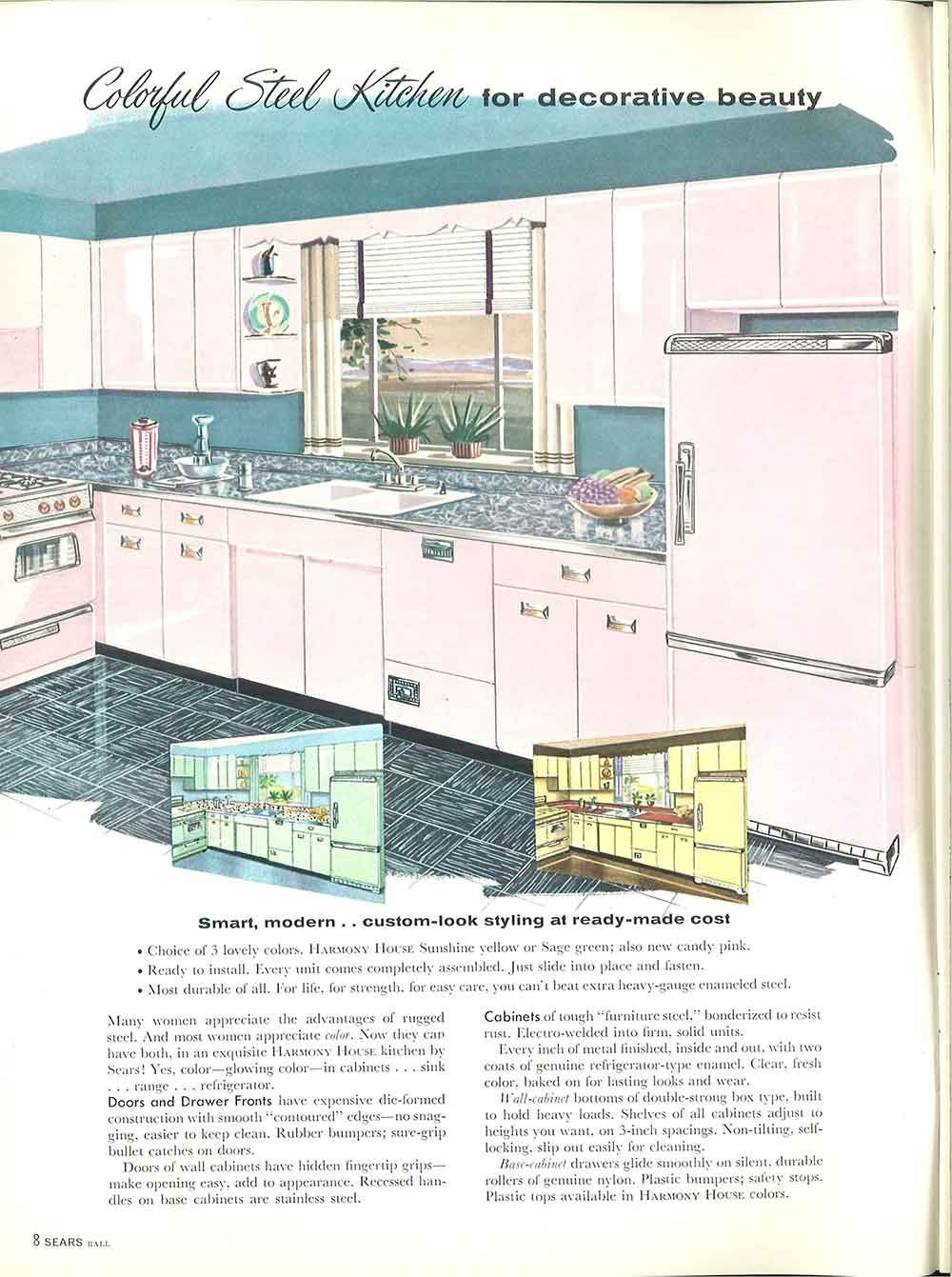 1958 Sears Kitchen Cabinets And More 32 Page Catalog Home Improvement Catalog Retro Renovation Vintage Kitchen