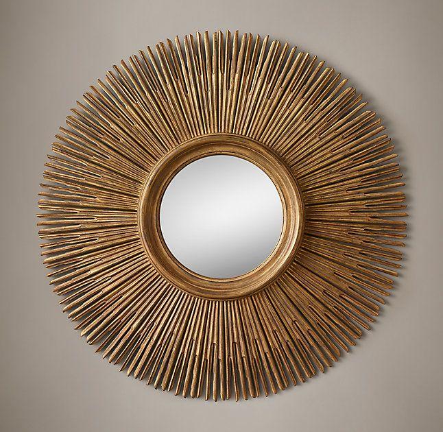 Rh S 17th C Round Sunburst Mirror, Round Sunburst Mirror