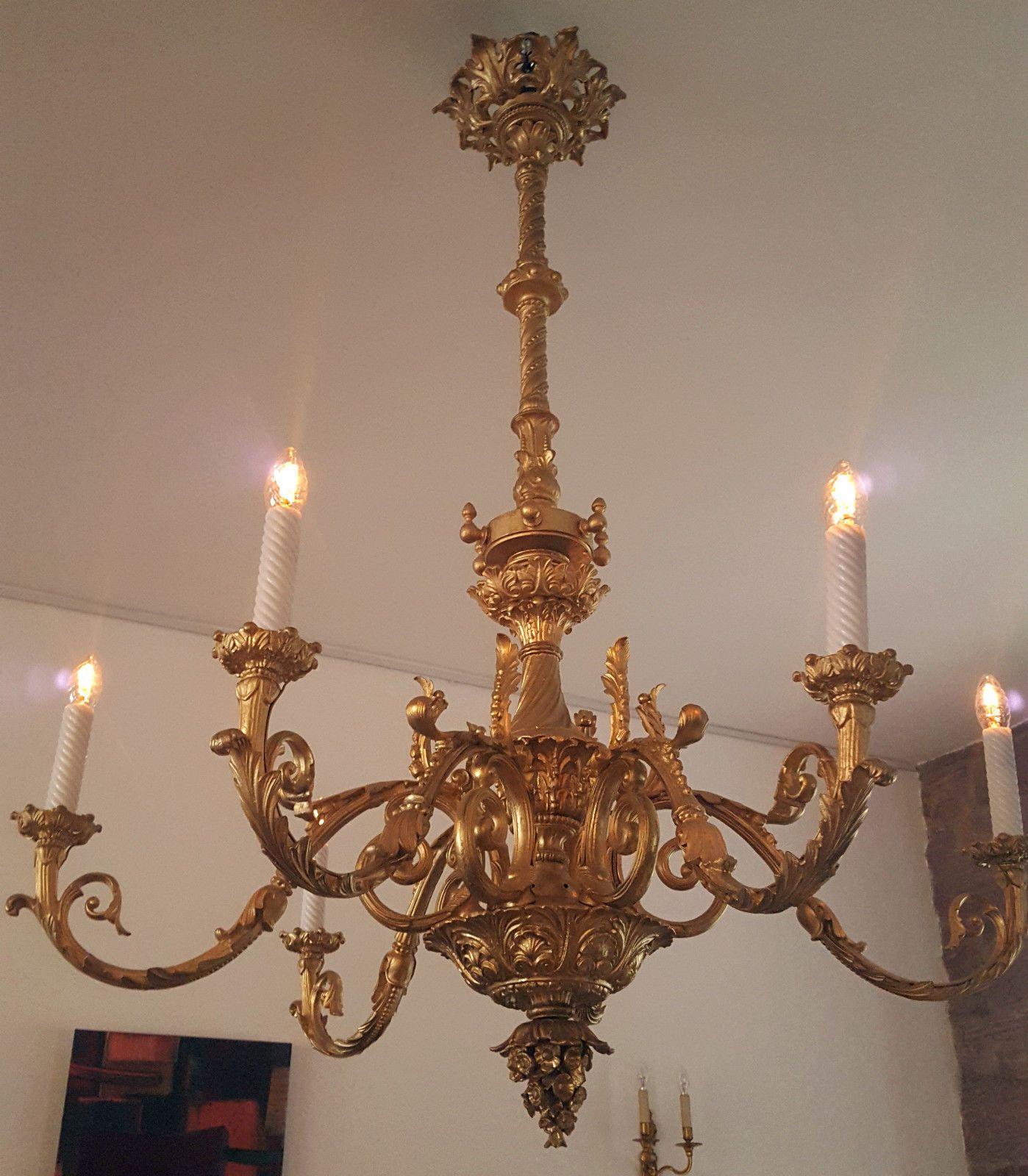Paar Kronleuchter Antik Lüster Pair Chandelier Antique Barock Baroque Louis Xiv Chandelier Antiques Baroque