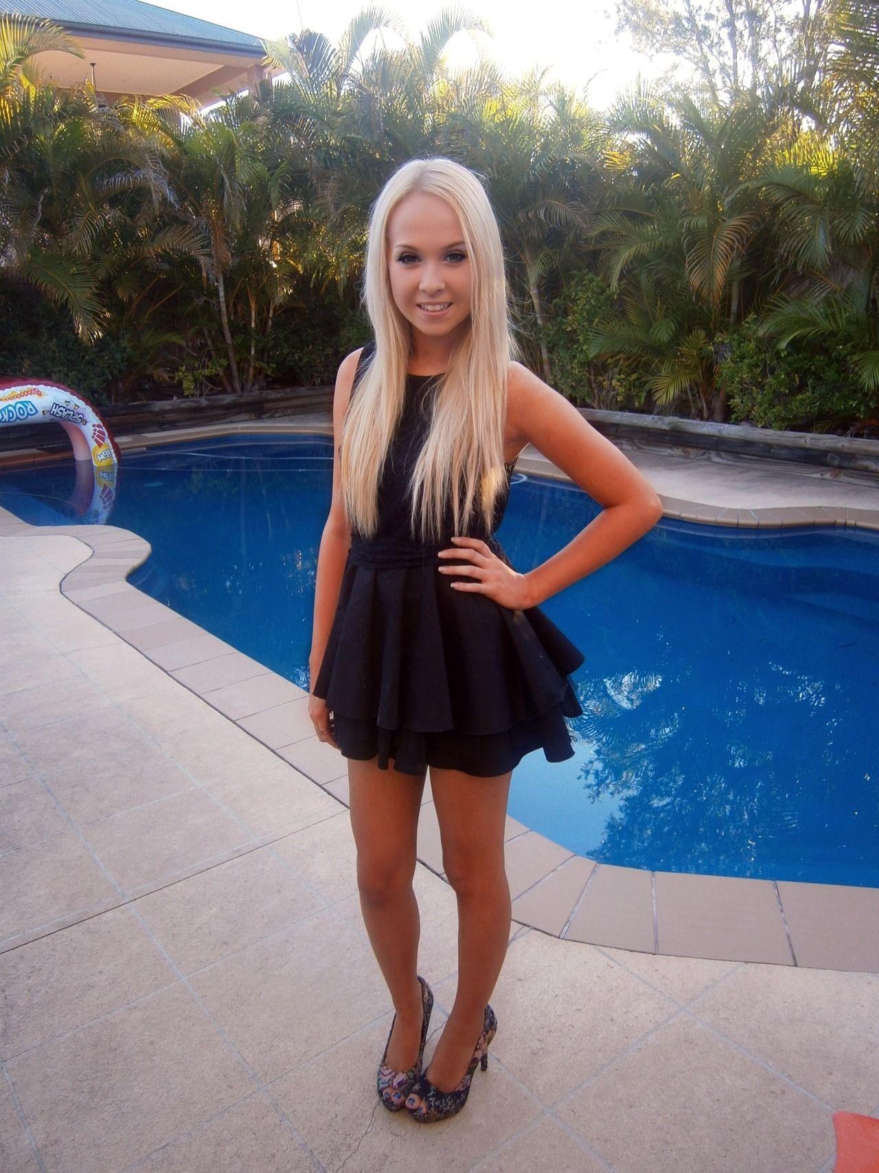 Skinny Blonde Teen Girl