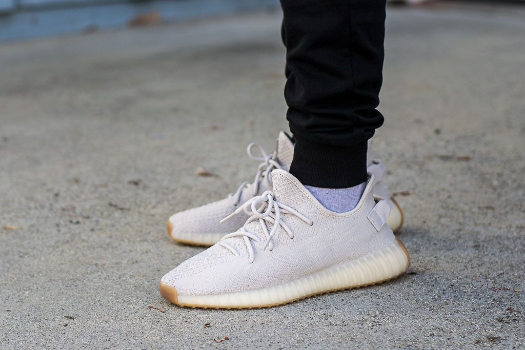 Adidas Yeezy Boost 350 V2 Sesame On Feet Sneaker Review