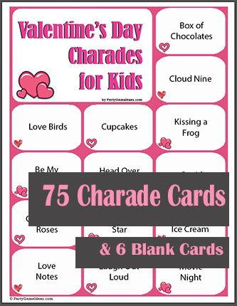 Valentine's Day Charades for Kids
