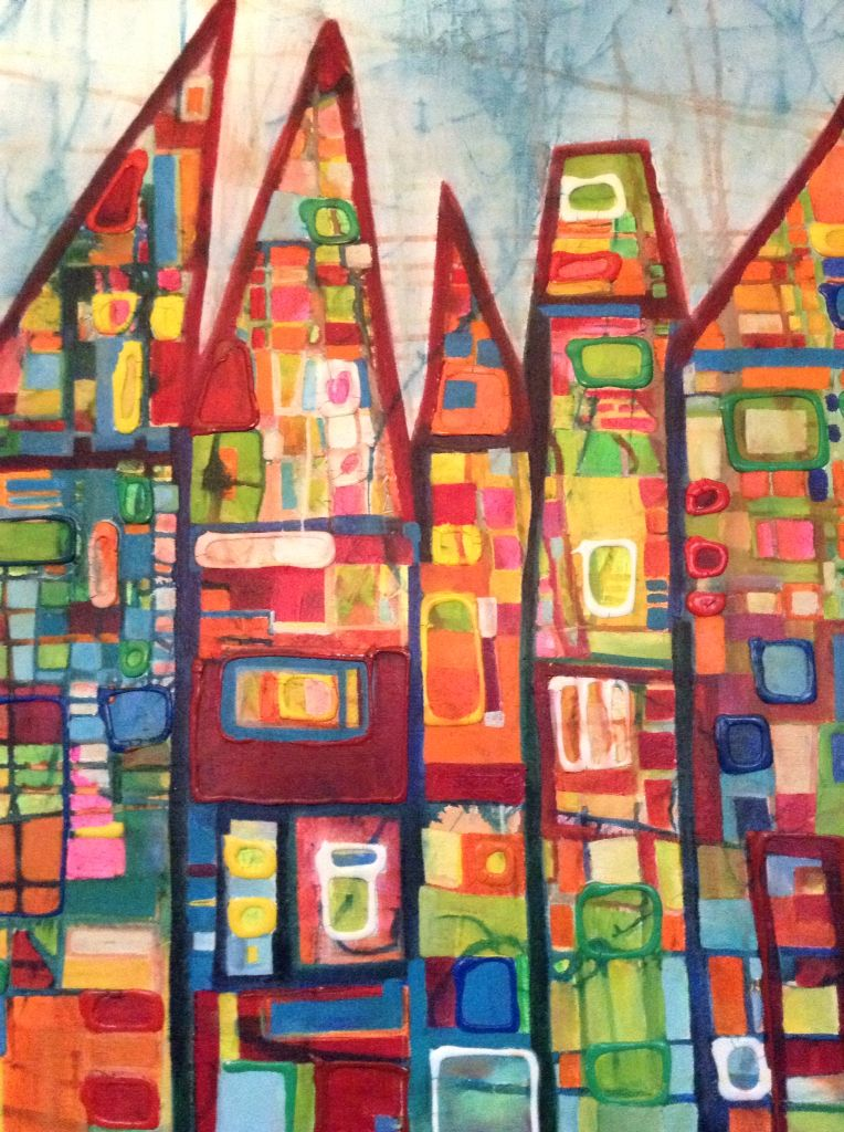 Schilderij Lia Stout, titel: samen