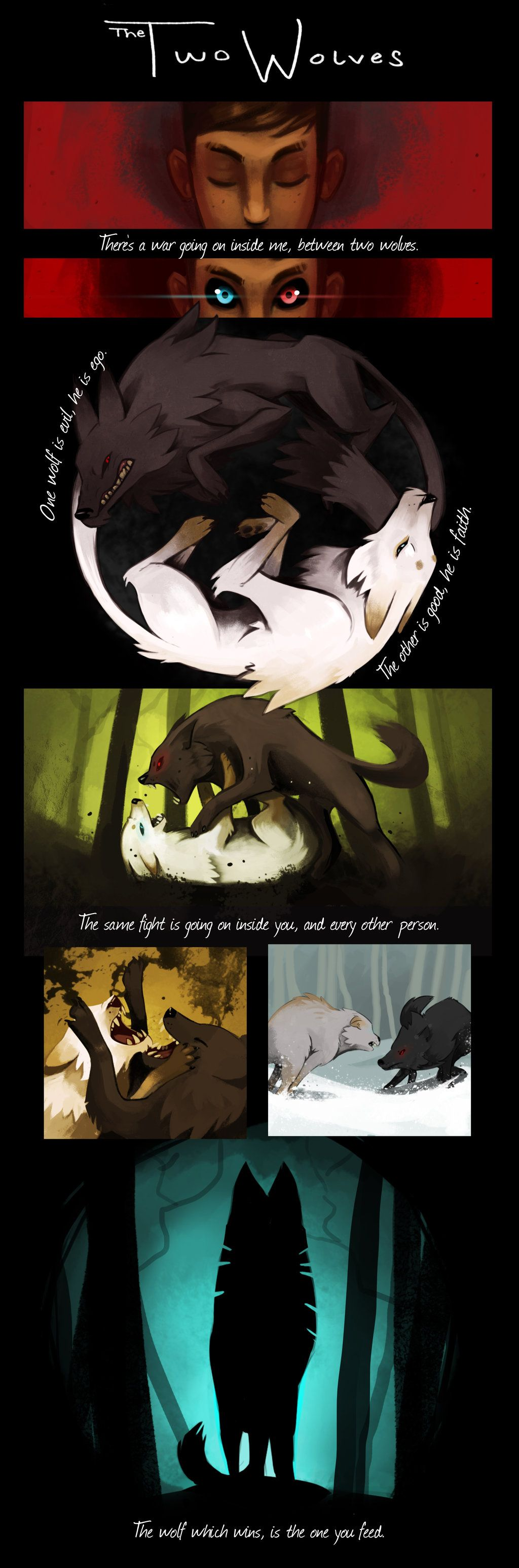 Photo of The Two Wolves by RhythmAx on DeviantArt