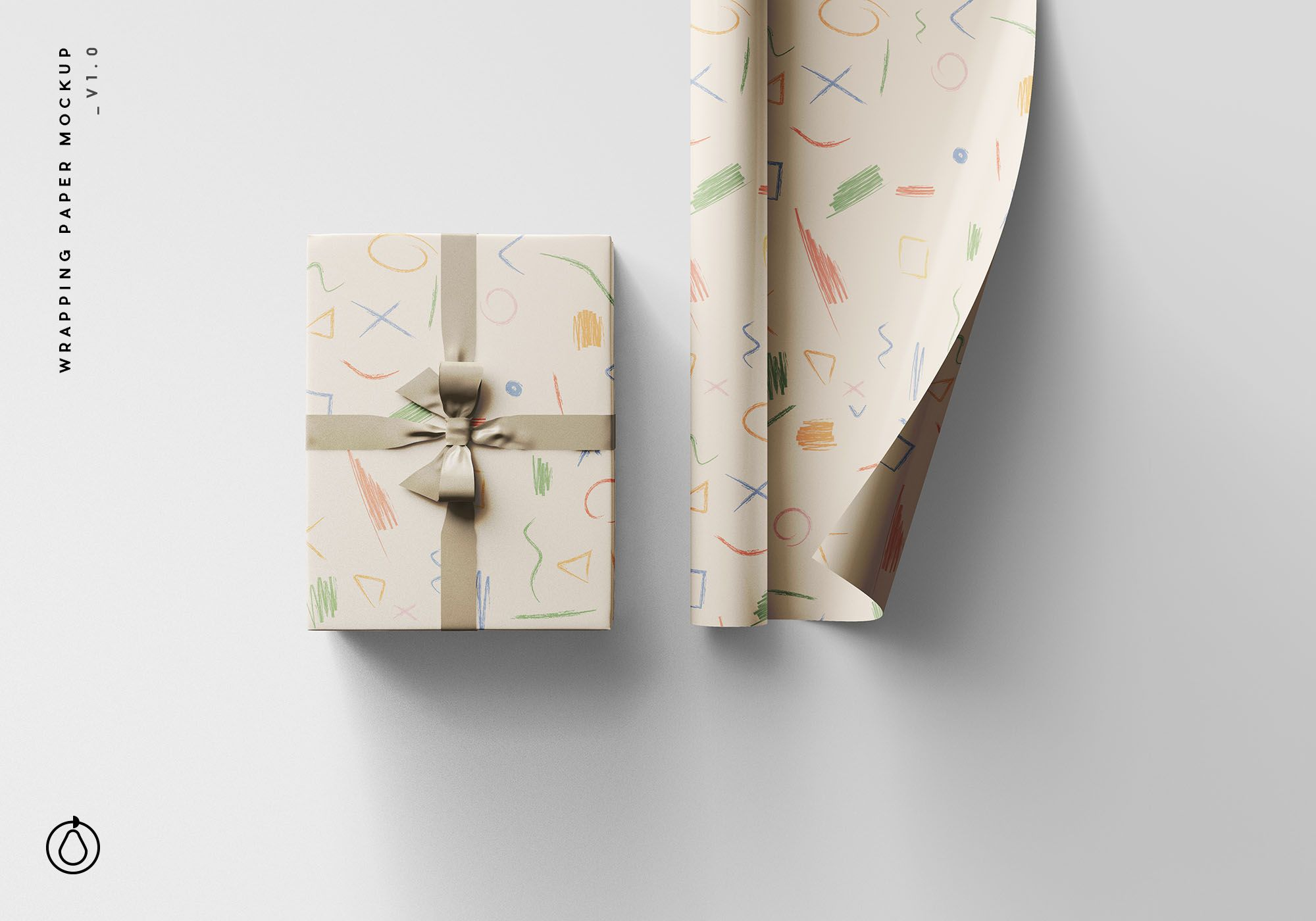 Wrapping Paper Free Psd Mockup Paper Mockup Mockup Free Psd Wrapping Paper Design