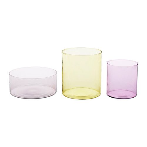 Ikea Cylinder Vasebowl Set Of 3 Can Be Stacked Inside One