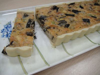 Maryam's Culinary Wonders: 51. Aubergine-Courgette Quiche