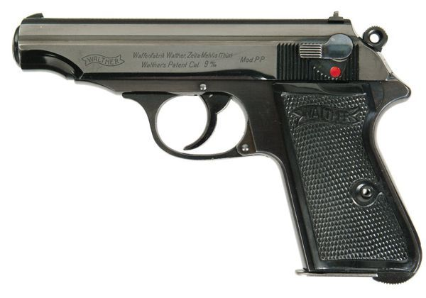 Rare pre-WW2 variation of Walther PP with bottom-mounted magazine release. Find our speedloader now! http://www.amazon.com/shops/raeind
