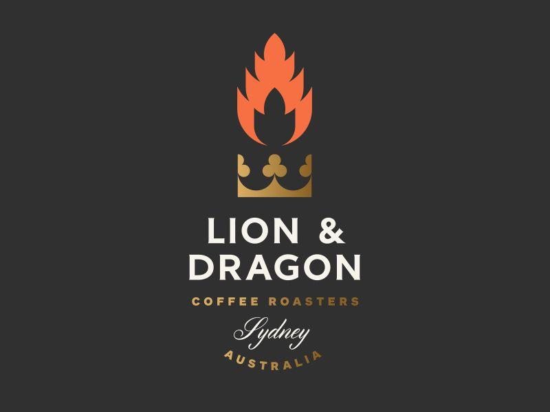 Lion & Dragon Coffee Roasters by Jay Fletcher #logo #design #ideas ...