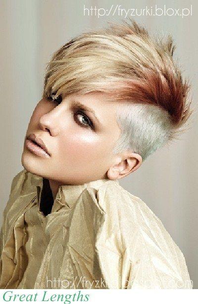 Modne Fryzury Krotkie I Nastroszone Z Wygolonym Bokiem Short And Spiky Hair For Woman Coupe De Cheveux Coiffure Courte Coiffure
