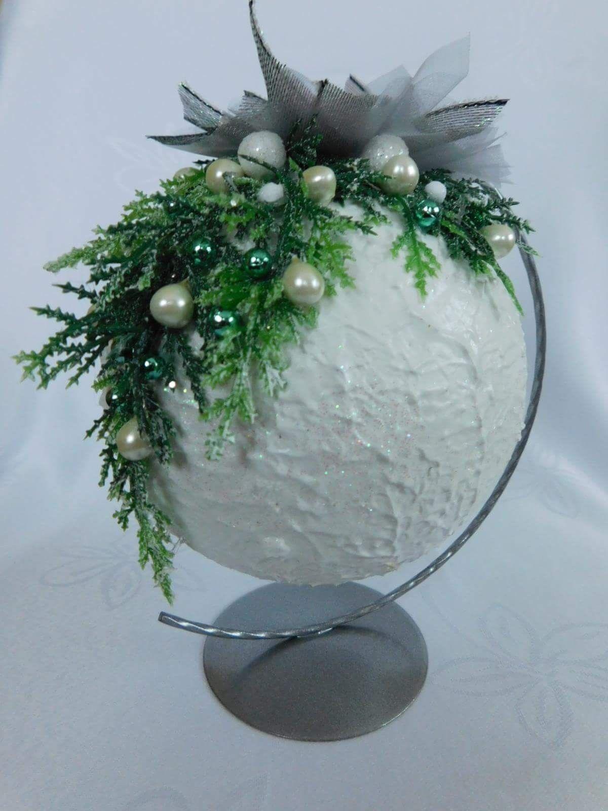 Kerstbal #kerstbloemstukken